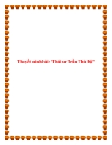 Văn mẫu lớp 10: Thuyết minh bài Thái sư Trần Thủ Độ