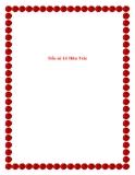 Văn mẫu lớp 10: Tiểu sử Lê Hữu Trác