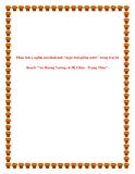 """Văn mẫu lớp 10: Phân tích ý nghĩa của hình ảnh ngọc trai giếng nước trong truyền thuyết """"An Dương Vương và Mị Châu - Trọng Thủy"""""""