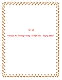 Viết lại Truyện An Dương Vương và Mị Châu - Trọng Thủy