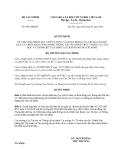 Quyết định 995/QĐ-BTC năm 2013