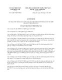 Quyết định 32/2013/QĐ-UBND