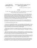 Chỉ thị 07/CT-UBND năm 2013