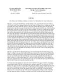 Chỉ thị 09/CT-UBND năm 2013 về công tác phòng, chống lụt, bão