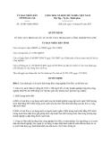 Quyết định 16/2013/QĐ-UBND