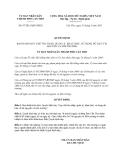 Quyết định 07/2013/QĐ-UBND