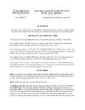 Quyết định 419/QĐ-CT năm 2013