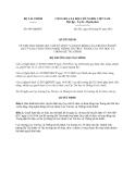 Quyết định 996/QĐ-BTC năm 2013