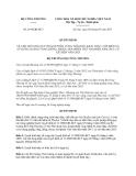 Quyết định 2910/QĐ-BCT năm 2013