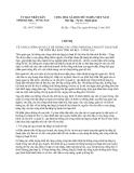 Chỉ thị 14/CT-UBND năm 2013