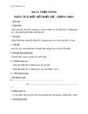 Giáo án Địa lý 6 bài 21: Thực hành Phân tích biểu đồ nhiệt độ, lượng mưa