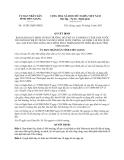 Quyết định 15/2013/QĐ-UBND