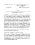 Chỉ thị 09/CT-TTg năm 2013