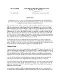 Thông báo 202/TB-BTC ý kiến kết luận của Thứ trưởng Phạm Sỹ Danh tại cuộc họp đánh giá kết quả công tác quản lý tài chính nội ngành năm 2012 và giải pháp triển khai thực hiện kế hoạch năm 2013 do Bộ Tài chính ban hành