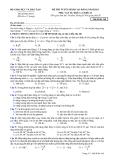Đề thi tuyển sinh Cao đẳng môn Lý khối A, A1 năm 2013 (Mã đề 368)