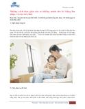 Những cách rèn luyện trí thông minh cho bé
