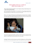 Kinh nghiệm chăm sóc và điều trị bệnh viêm tai giữa ở trẻ