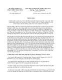 Thông báo 2290/TB-BNN-VP