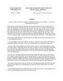 Chỉ thị 07/CT-UBND năm 2013 tăng cường công tác phòng, chống dịch bệnh cây trồng - vật nuôi trên địa bàn tỉnh Vĩnh Long
