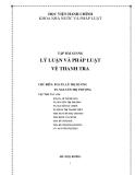 Tập bài giảng lý luận và pháp luật về thanh tra  - PGS Lê Thị Hương