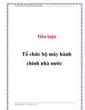 Tiểu luận: Tổ chức bộ máy hành chính nhà nước - Đặng Văn Minh