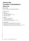 Answer Key Listening Comprehension Practice