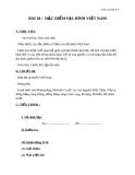 Giáo án Địa lý 8 bài 28: Đặc điểm địa hình Việt Nam