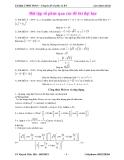 Bài tập số phức qua các đề thi Đại học