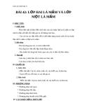 Giáo án Sinh học 6 bài 42: Lớp hai lá mầm và lớp 1 lá mầm