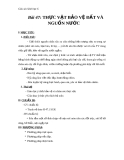 Giáo án Sinh học 6 bài 47: Thực vật bảo vệ đất và nguồn nước