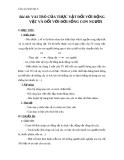 Giáo án Sinh học 6 bài 48: Vai trò của thực vật và động vật đối với đời sống con người