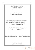 Tóm tắt luận văn thạc sĩ: Hoàn thiện công tác kiểm tra thuế đối với doanh nghiệp tại Chi cục thuế thành phố Kon Tum
