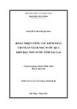 Tóm tắt luận văn thạc sĩ: Hoàn thiện công tác kiểm soát chi Ngân sách Nhà nước qua Kho bạc Nhà nước tỉnh Gia Lai