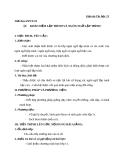 Giáo án Tin học 11 bài 1: Khái niệm về lập trình và ngôn ngữ lập trình