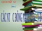 Bài giảng Lịch sử 12 bài 4: Các nước Đông Nam Á và Ấn Độ