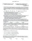 Đề thi thử Đại học môn Lý năm 2014 - Trường THPT chuyên KHTN (Mã đề 473)