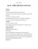 Giáo án Sinh học 7 bài 38: Thằn lằn bóng đuôi dài
