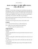 Giáo án Sinh học 7 bài 40: Đa dạng và đặc điểm chung của lớp bò sát