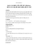 Giáo án Sinh học 7 bài 50: Đa dạng của lớp thú( tiếp theo) bộ ăn sâu bọ, bộ gặm nhấm, bộ ăn thịt