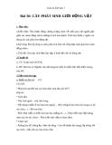 Giáo án Sinh học 7 bài 56: Cây phát sinh giới động vật