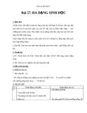 Giáo án Sinh học 7 bài 57: Đa dạng sinh học