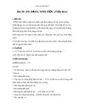 Giáo án Sinh học 7 bài 58: Đa dạng sinh học( tiếp theo)