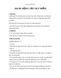 Giáo án Sinh học 7 bài 60: Động vật quý hiếm