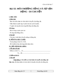 Giáo án Sinh học 7 bài 53: Môi trường sống và sự vận động, di chuyển