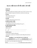 Giáo án Sinh học 7 bài 54: Tiến hóa về tổ chức cơ thể
