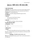 Giáo án Sinh học 7 bài 55: Tiến hóa về sinh sản