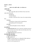 Giáo án Tin học 11 bài 6: Phép toán, biểu thức, câu lệnh gán