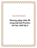 SKKN:  PP chữa lỗi trong loại bài Practice cho HS lớp 6