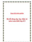 SKKN: Bộ đồ dùng dạy học điện tử môn toán khối lớp 8-9