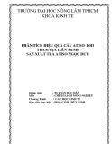 Tiểu luận: Phân tích hiệu quả cây atiso khi tham gia liên minh sản xuất trà atiso Ngọc Duy